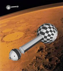 Project 021B Pobeda cruisers over Mars