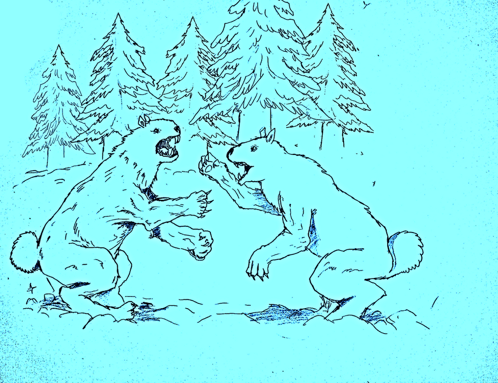 Glaciodonts fighting ! by Brobar