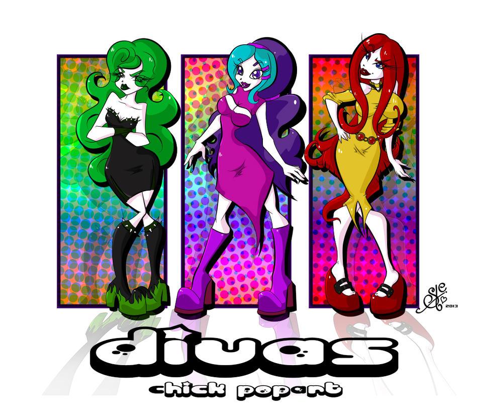 Divas-Chicks PoPART by Ludra-Jenova