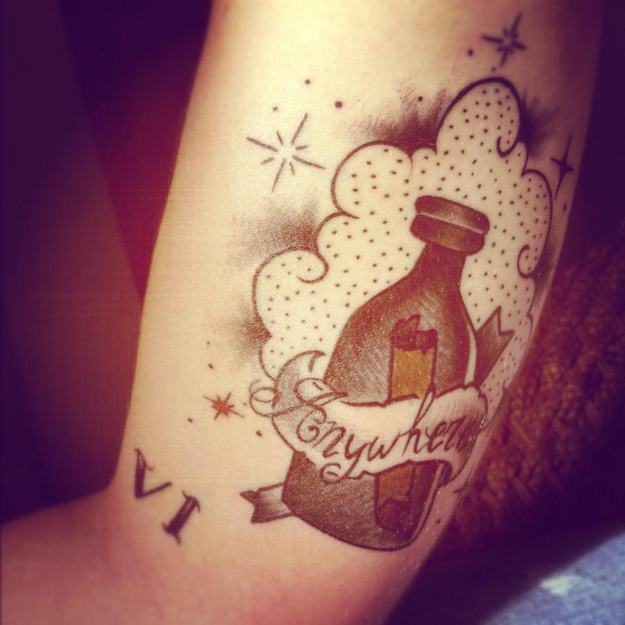 bottle tattoo by jackychou on deviantart. Black Bedroom Furniture Sets. Home Design Ideas