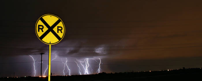 Lightning Crossing by Delusionist