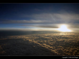 Sunset at 35000 feet by Delusionist
