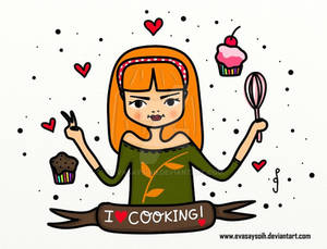 She loves cooking
