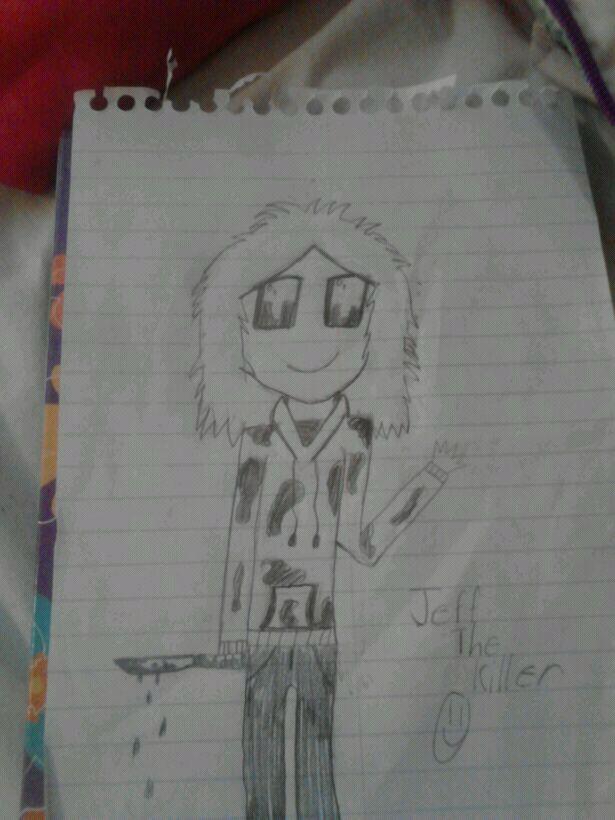 Jeff the killer drawing. by zimfan12