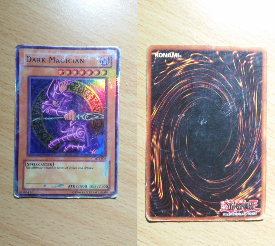 i found my old dark magician yu gi oh card by craftymaelyss on