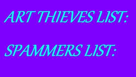 ART THIEVES AND SPAMMERS LOGO by CraftyMaelyss