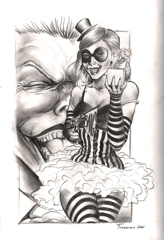 Harley quinn pencil work by rnabrandent