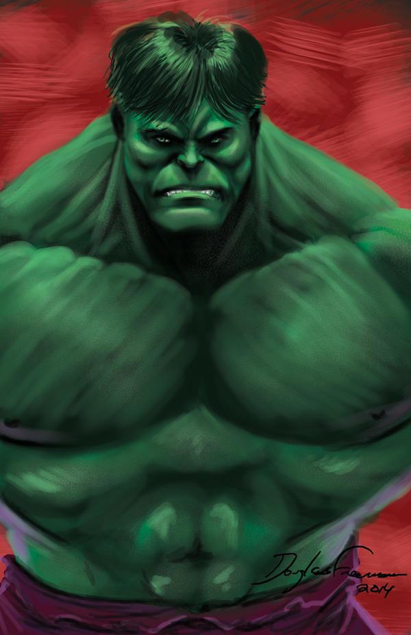 Hulk digital sketch by RNABrandEnt