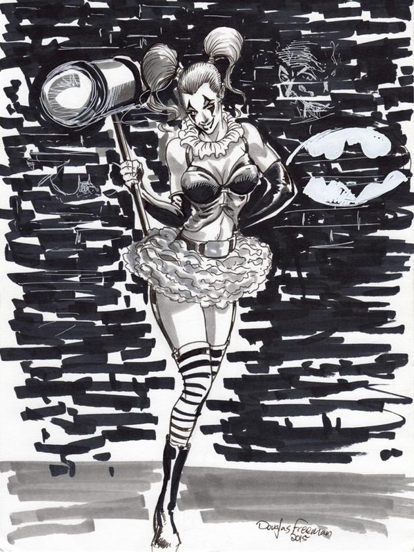 Harley Quinn con sketch by RNABrandEnt
