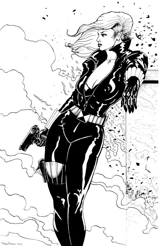 Black Widow inked by RNABrandEnt