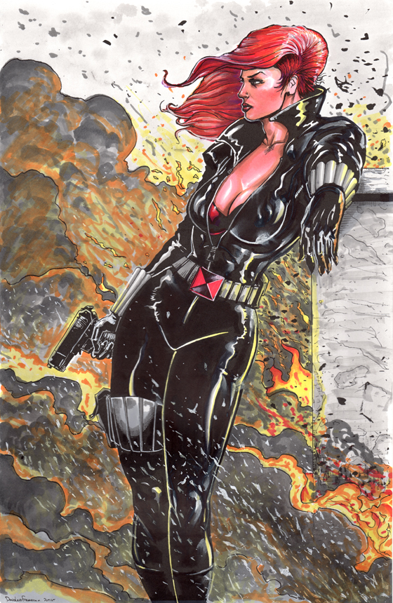Black Widow Copic markers by RNABrandEnt