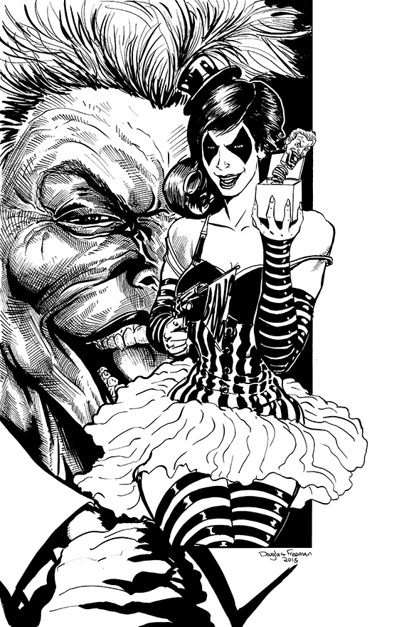Harley Quinn inks by RNABrandEnt