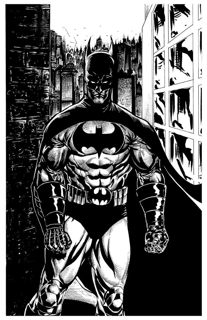 Batman pinup inked by RNABrandEnt