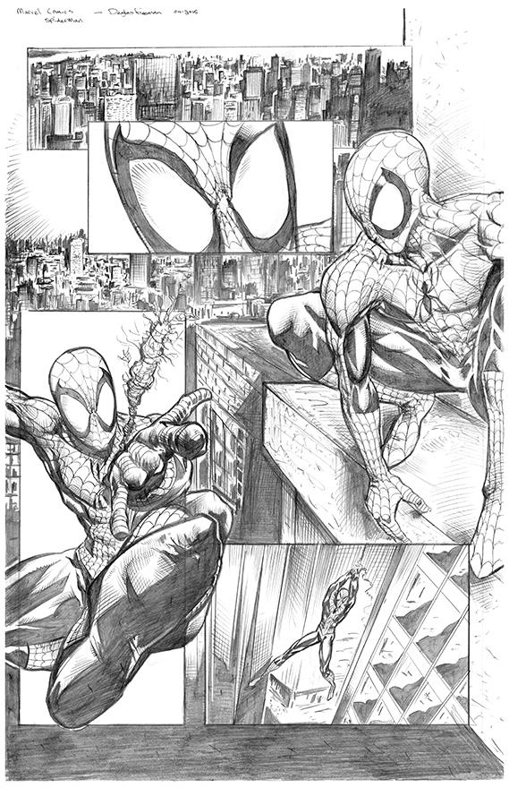 Spiderman sampler page 1 by RNABrandEnt