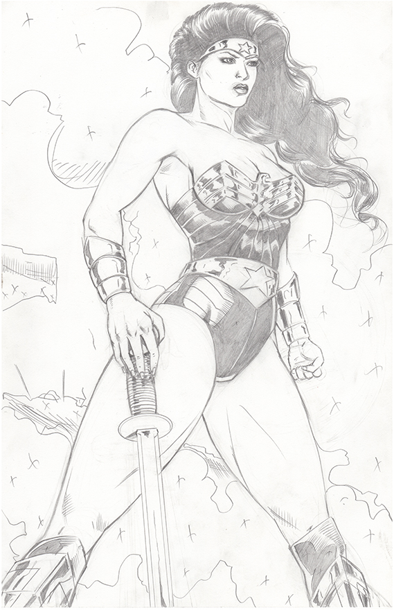 Wonder Woman pencils by RNABrandEnt