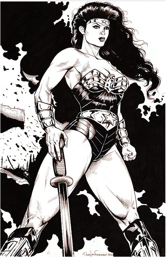 Wonder Woman 2016 inked by RNABrandEnt
