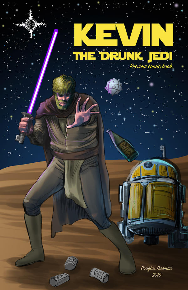 Kevin: The Drunk Jedi Preview Book Cover by RNABrandEnt