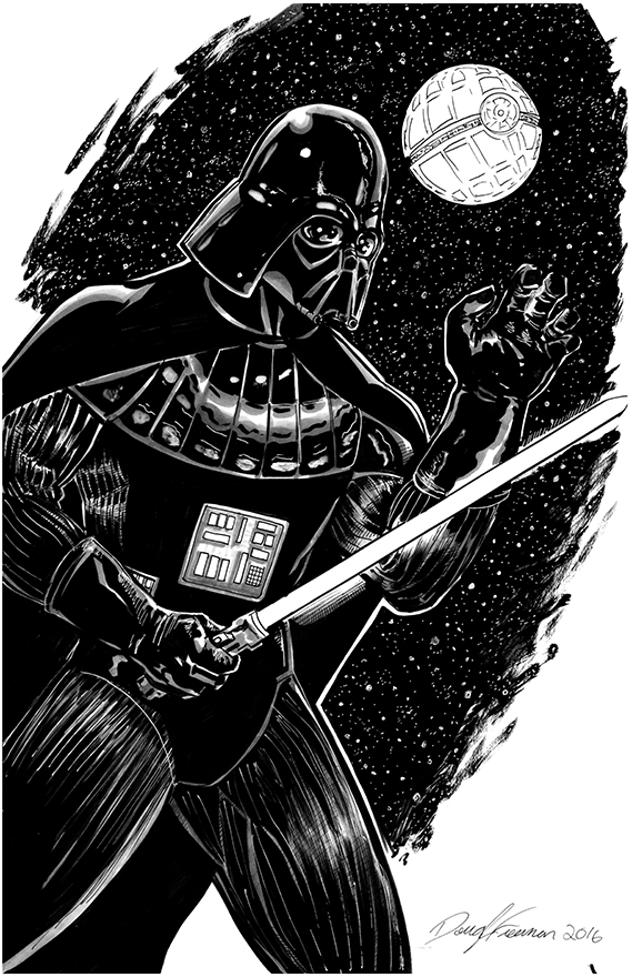 Darth Vader Versus! Inked by RNABrandEnt