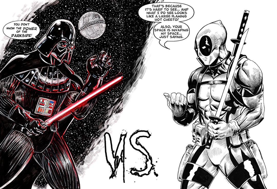 DarthVader Versus Deadpool lettered by RNABrandEnt