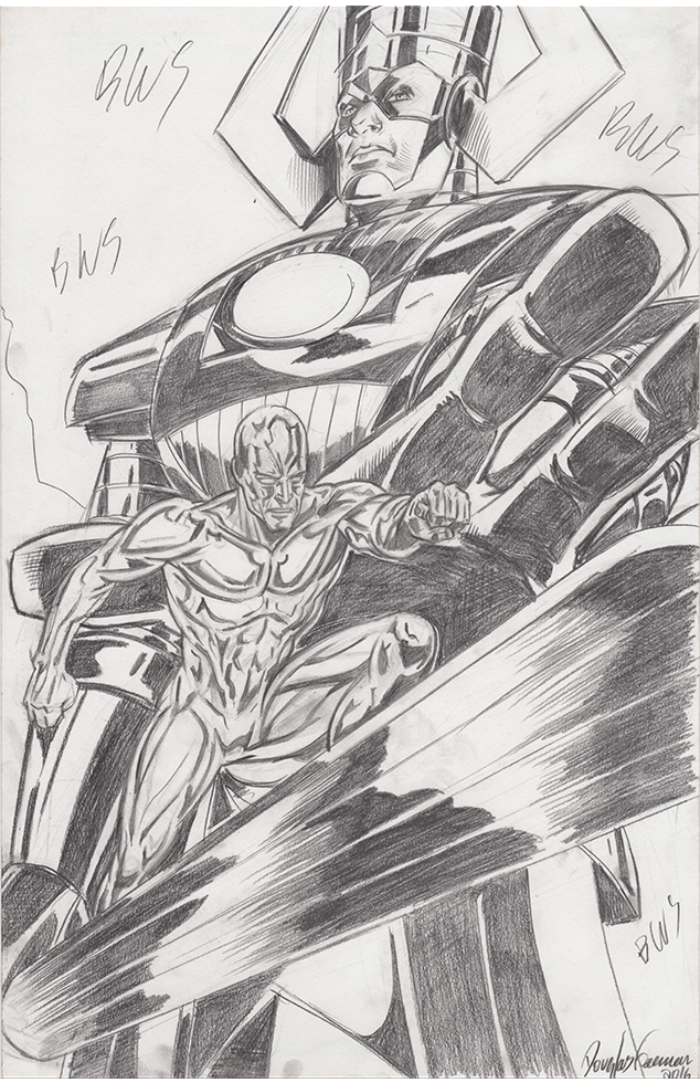 Galactus and Silver Surfer Pencils 2016 by RNABrandEnt