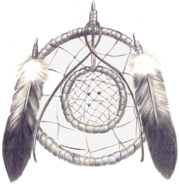 The gallery for easy dreamcatcher sketches for Dream catcher drawing easy