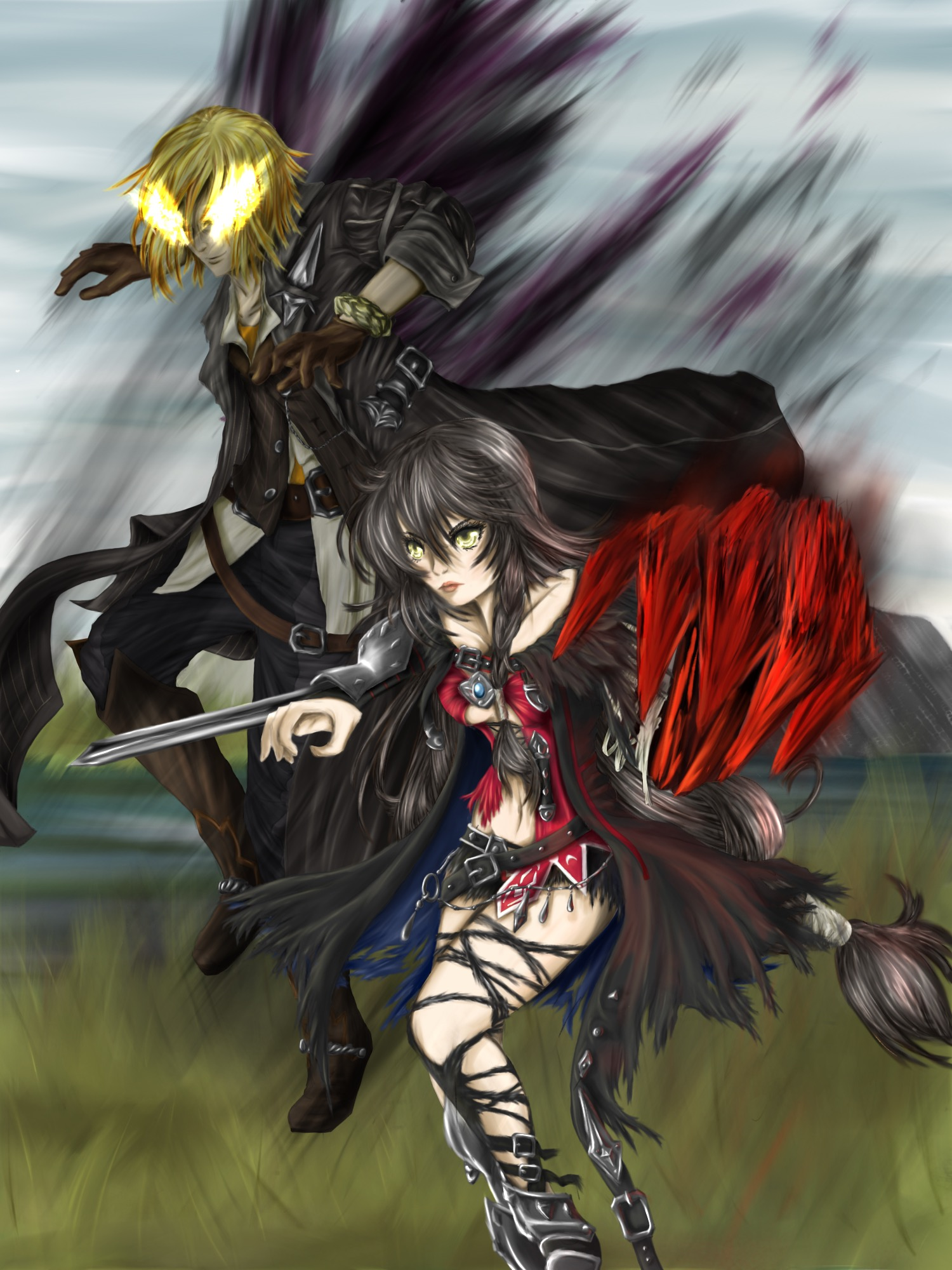 Charge Into Battle Velvet And Eizen By May May Meow On Deviantart