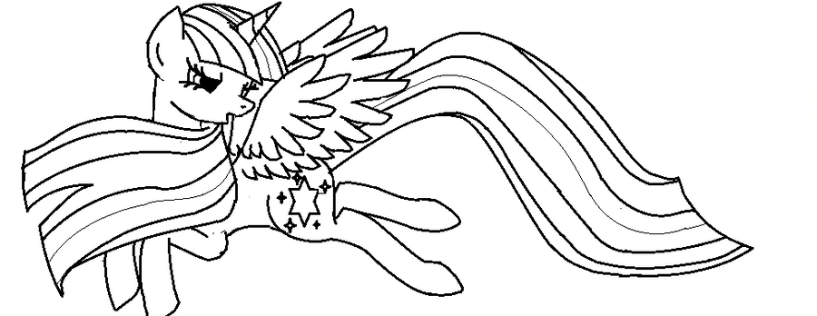 coloring pages twilight sparkle - alicorn twilight sparkle lineart by thatoneblondechick09