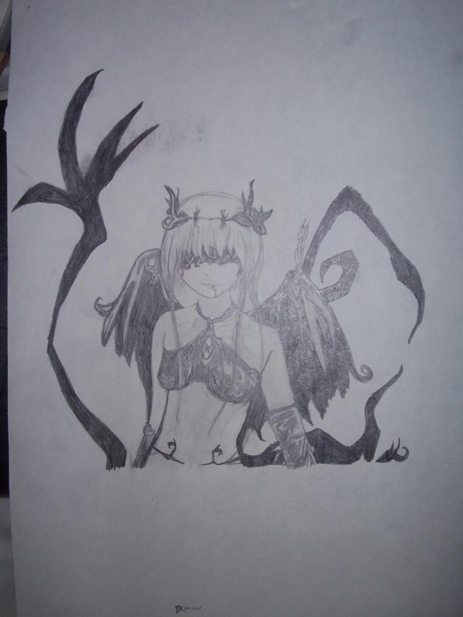 black demon pencil sketch by flotasticfox on deviantART