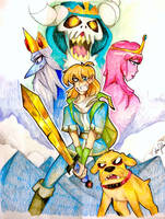 ADVENTURE TIME ! with Finn and Jake by Artfrog75