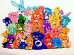 Care Bear Family by Artfrog75