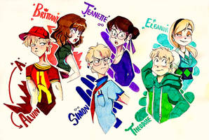 AATC- Chipmunks and Chipettes by Artfrog75