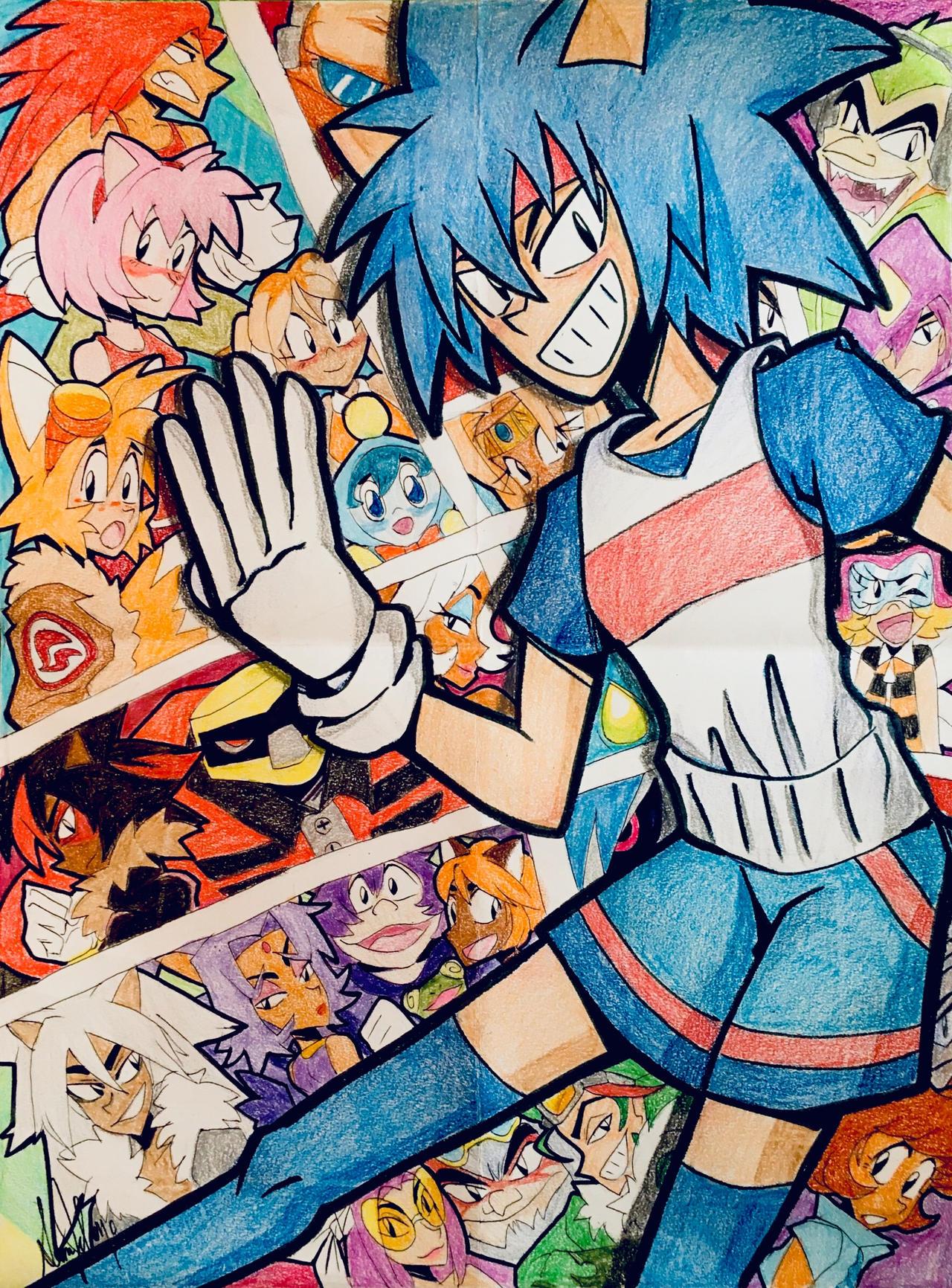 Sonic The Hedgehog Comic Art By Artfrog75 On Deviantart