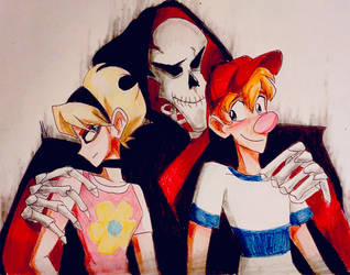 Grim, Billy, and Mandy!