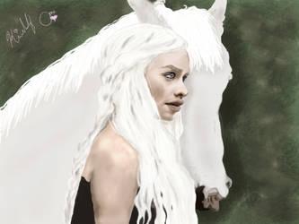 Daenerys Targaryen : Pale Beauty by HisGeenky