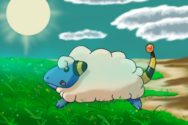 Mareep Enjoys the Last Days of Summer by HisGeenky
