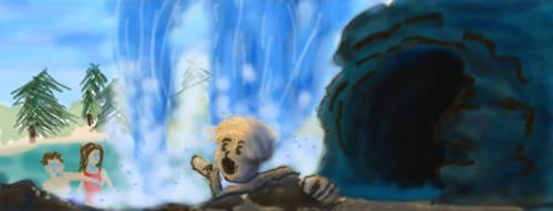 A Hidden Cave by DeadWizard