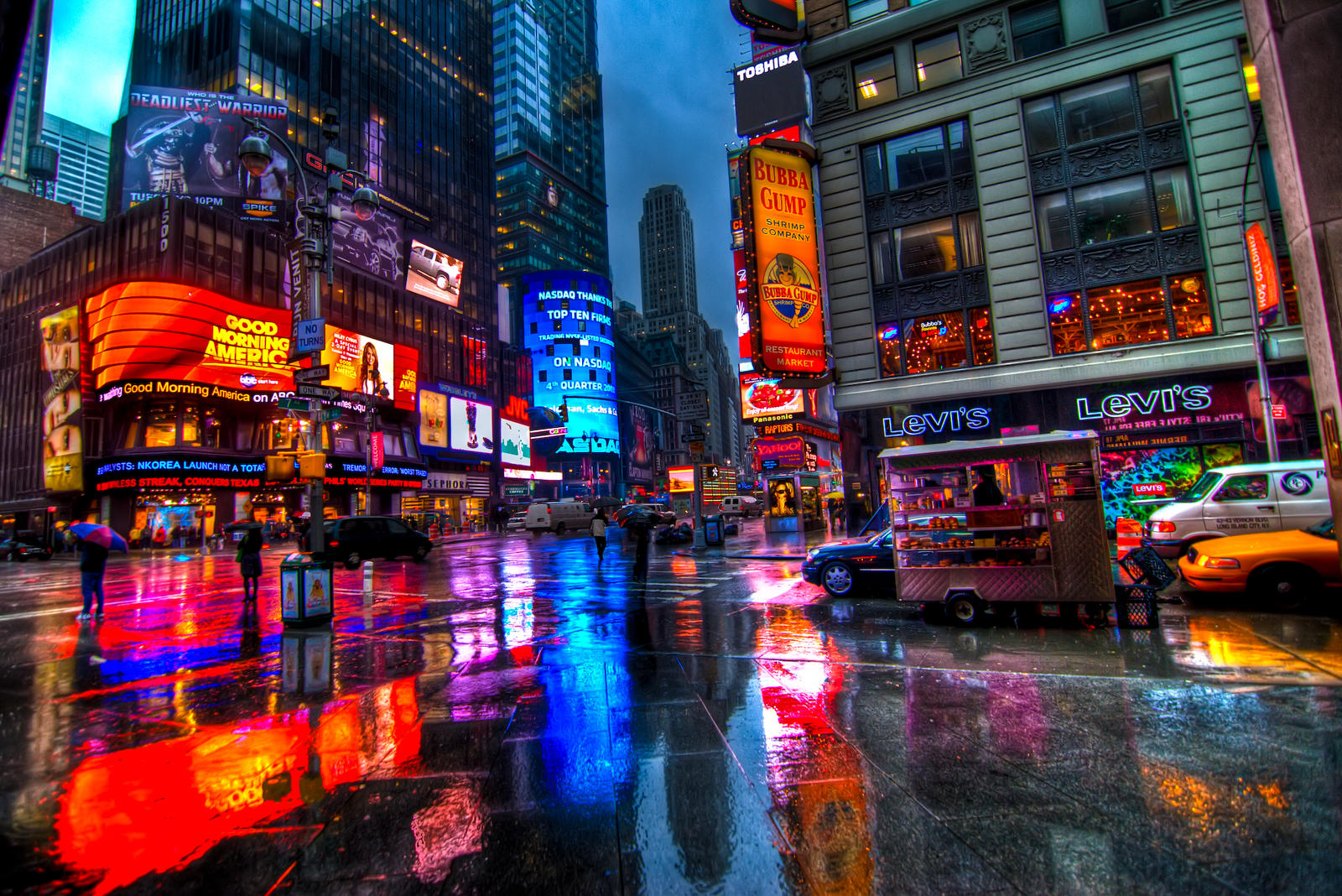 Times Square In The Rain by pennuja