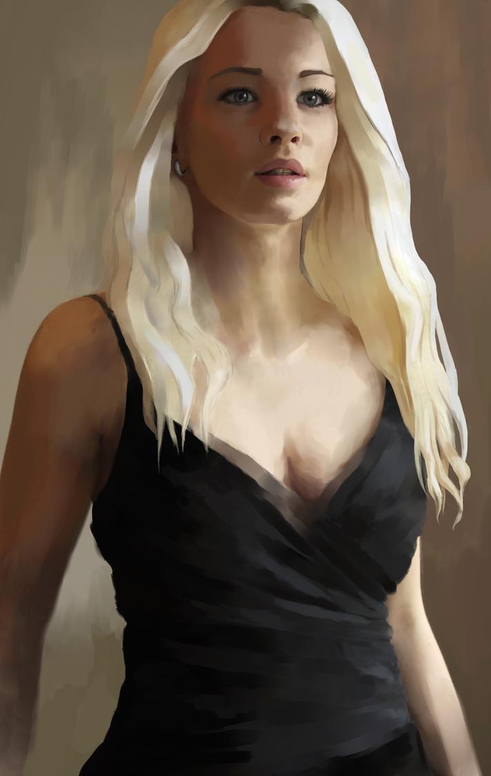 Woman In Black by Elvarnya