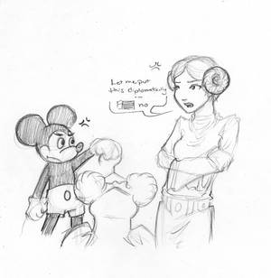Princess Leia vs Micky Mouse