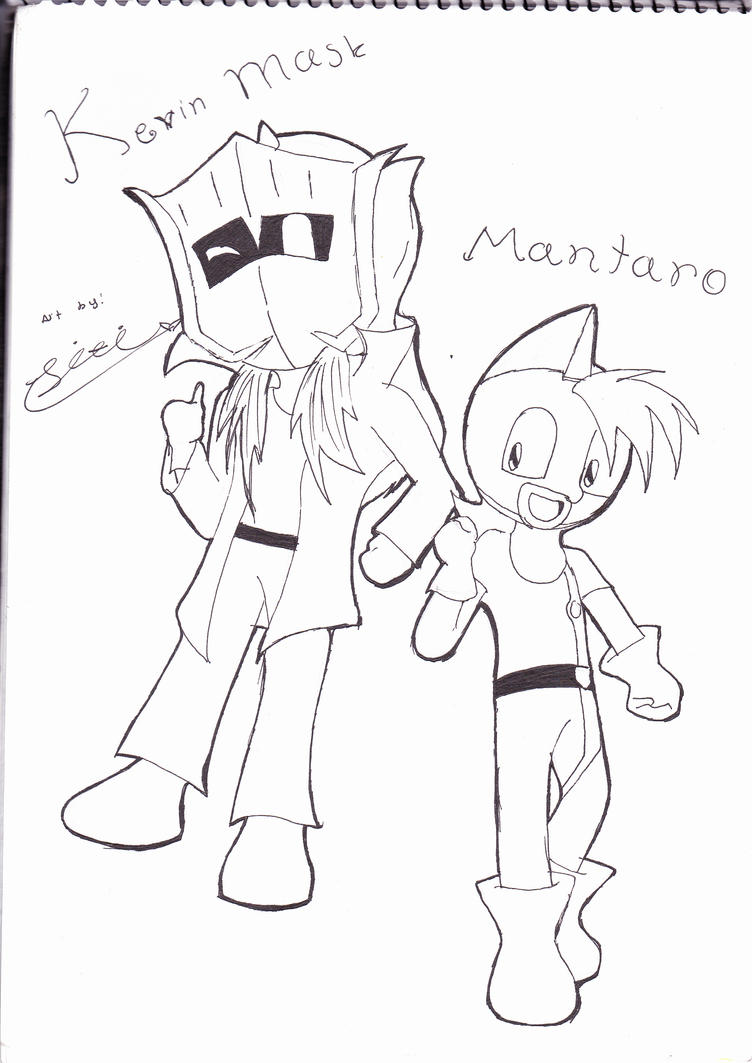 Kevin and Mantaro LINEART by Sitinuramjah