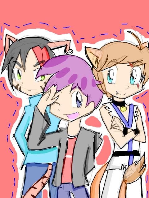 Tegaki::Randy, Tora and Mizuki by Sitinuramjah