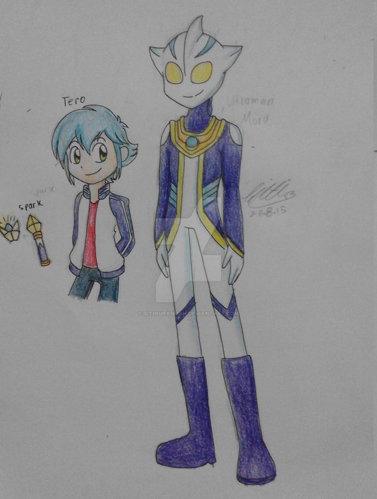 FanArt::Tero and Ultraman Moru by Sitinuramjah