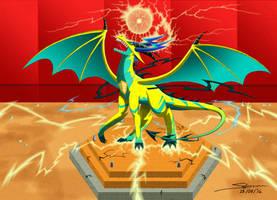 Dragon City Pure Electric Dragon by StormRaven333