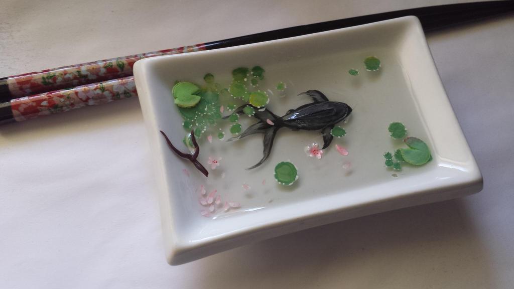 Goldfish Resin Painting by UwiGoncho