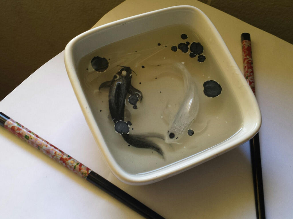 Yin and Yang fish from Avatar Resin Painting. by UwiGoncho