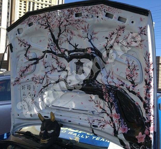 Subie Invasion Car Art:Cherry Blossom by UwiGoncho