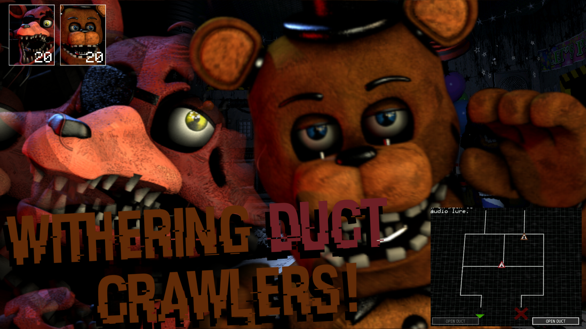 [FNaF Mod] Withering Duct Crawlers Pack! (UCN)