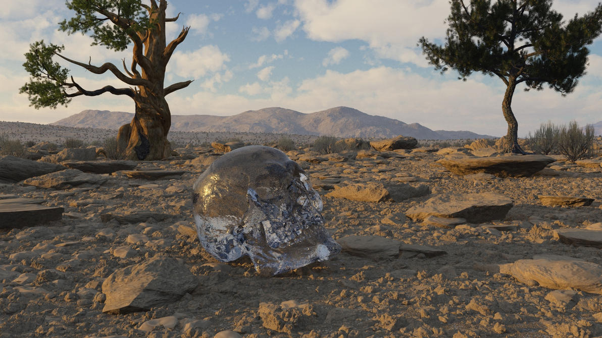 The Crystal Skull by inkydigit