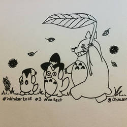 Inktober 2016 - #3 - Collect ! Totoro