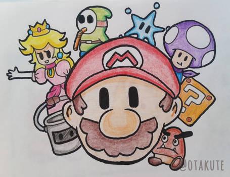 Paper Mario Color Splash team